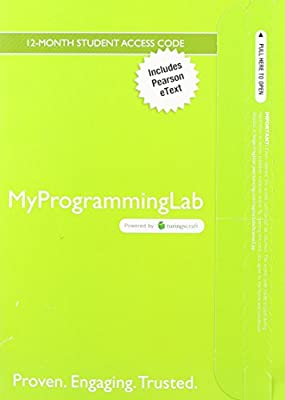 MyProgrammingLab with Pearson eText -- Access Card -- for Starting Out with Java: From Control Structures through Objects (5th Edition) (MyProgrammingLab (Access Codes))
