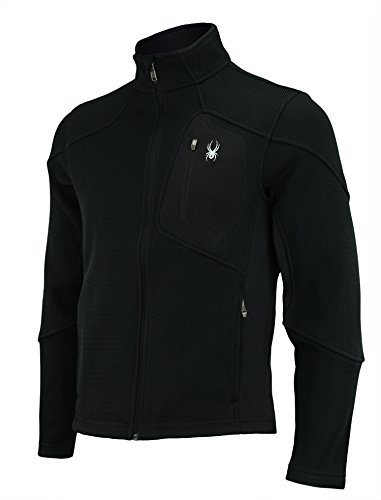 Spyder Men's Linear Core Sweater, Full Zip (X-Large, Black) (Snowboarding Jackets Spyder)