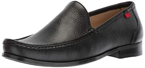 Broadway Leather - MARC JOSEPH NEW YORK Mens Leather Broadway Square Loafer, Black Grainy 9 D(M) US