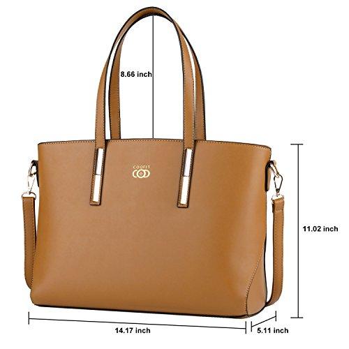 Handtaschen Damen,COOFIT Damentasche Handtasche Frauen Geldbörse Leder Handtasche Schultertasche Umhängetasche Messenger Bag (Schwarzer) (Original Design 2) Original Design 2