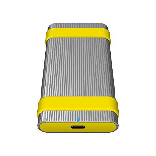 Sony SL-M2 externe SSD-harde schijf (2 TB, tot 1.000Mbps/s schrijven/lezen, stof- en waterdicht (IP67), USB 3.1 type C…