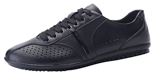 Abby 1561 Mens Lace-up Closed toe Casual Pleasant Driving Work Smart Leather Shoes Black bEI3IWea