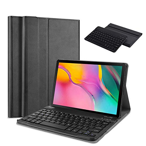[해외]TiKeDa Galaxy Tab A 10.1 2019 Keyboard Case T510 T515 Slim Shell Lightweight CoverMagnetically Detachable Wireless Keyboard for Galaxy Tab A 10.1 Inch SM-T510 SM-T515 2019 / TiKeDa Galaxy Tab A 10.1 2019 Keyboard Case T510 T515, Sl...