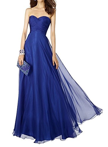 Charm Bridal 2017 Royal Blue Strapless Women Prom Summer Party Dresses Long New -16-Royal Blue by Charm Bridal