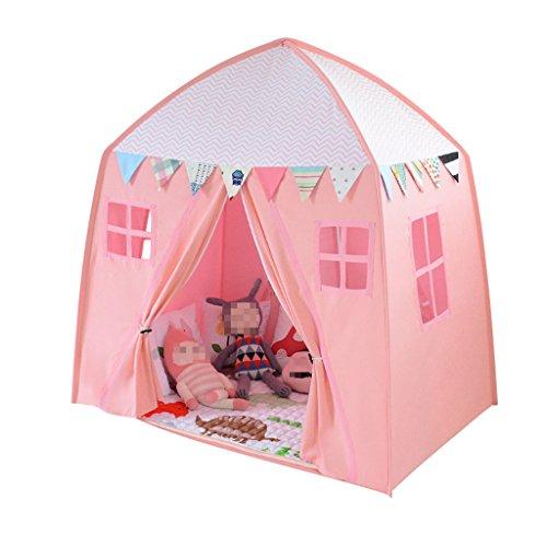 パレード滞在王位TGG 家庭用テント、子供用部屋トイルーム読書コーナーの男の子と女の子実用的なゲームハウスセットの小道具屋内と屋外ポータブルテント120-150CM 持ち運びが簡単 (色 : ピンク ぴんく, サイズ さいず : 150*100*150CM)