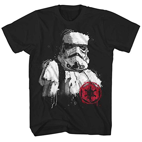 Stormtroopers Storm Painting Black T shirt