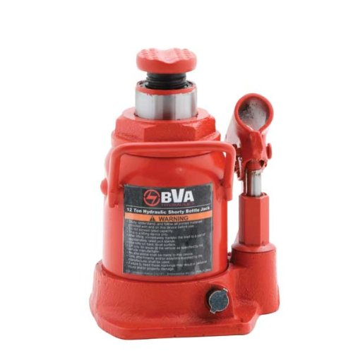 BVA Hydraulics J10129 12 Ton Shorty Manual Bottle Jack B00IZ5UGMO