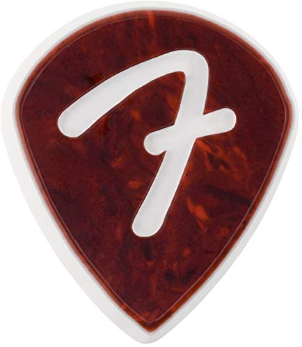 Fender F-Grip Tortoise Shell Pick - 551 Shape - 3 Pack (Shell Grip Medium)