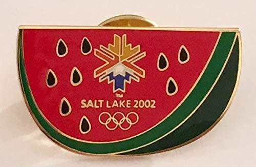 2002 Salt Lake City Winter Olympics Watermelon Pin (2002 Olympic Pins)