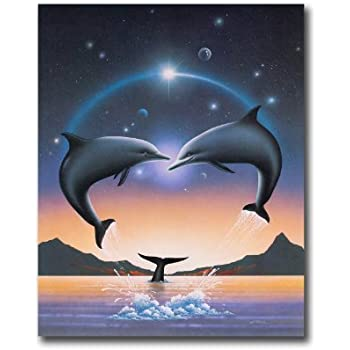 Amazon Com Dolphins Jumping Out Of Water And Whale Wall