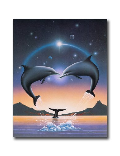 10 Photo Dolphins (Dolphins Jumping Out Of Water And Whale Wall Picture 8x10 Art Print)