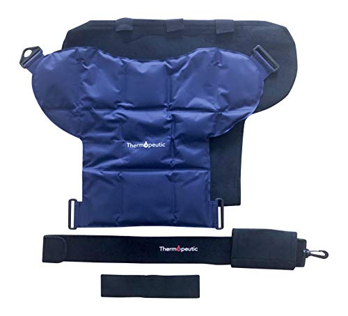 Shoulder Compression Ice/ Hot/ Cold Gel Wrap for Shoulder Injuries (Medium to Large Frame Fit) - Rotator Cuff, Rheumatoid Arthritis, Bursitis, Osteoarthritis,Tendinitis, AC Joint Pain Relief by Thermopeutic (Image #3)