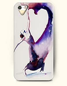 Phone Case For iPhone 5 5S Purple Dancing Girl - Hard Back Plastic Case / Oil Painting / OOFIT Authentic