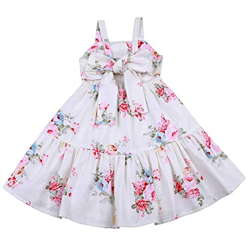 Flofallzique Easter Dress for Baby Girls Spring Floral Wedding Party Toddler Clothes for 1-10 Y(1, Little Flower)