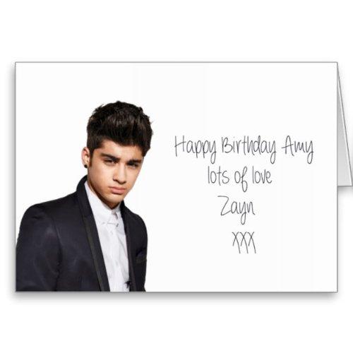 Zayn Malik One Direction personalised birthday card Amazoncouk – Zayn Malik Birthday Card