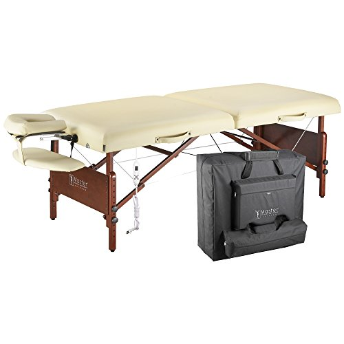 Master-Massage-Del-Ray-Therma-Top-Massage-Table-Pro-Package-with-Half-Round-Bolster-Sand30-Inch