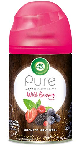 (Air Wick Pure Freshmatic Refill Automatic Spray, Wild Berries, 1ct, Air Freshener, Essential Oil, Odor Neutralization, Packaging May Vary)