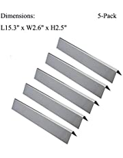 GasSaf Stainless Steel Flavorizer Bar Replacement Weber 46510001, 47513101 Spirit 300 310 320 E310 E320 Series Gas Grill Front Controls (L15.3 x W2.6X T2.5inch)(5-Pack)