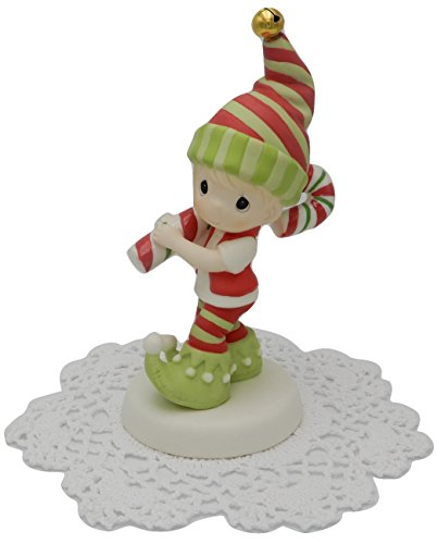 Precious Moments Holiday Christmas Bisque Porcelain Figurine with Westbraid Doily (Wishing You The Sweetest Holiday, 171013)