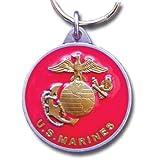 US Marines Round Pendant Keychain