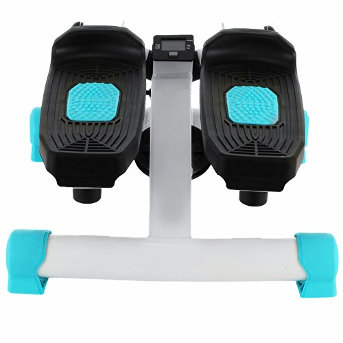 Popsport 220LBS Mini Stepper Machine Fitness Twister Stepper Air Stair Climber Step With Monitor Workout for Home Exercise (Mini Stepper Machine)