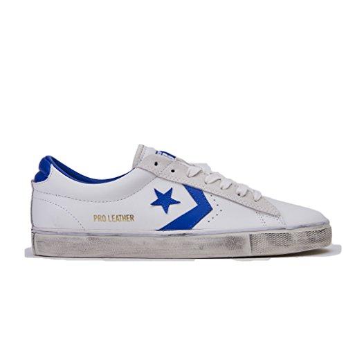 Converse Sneakers Uomo,Pro Leather Vulc 160928C/STAR White/Hyper, Distressed Ox, Colore Bianco Blu, in Pelle, Nuova Collezione Primavera Estate 2018