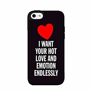 linJUN FENGI Want Your Hot Love and Emotion Endlessly- TPU RUBBER SILICONE Phone Case Back Cover iphone 5/5s