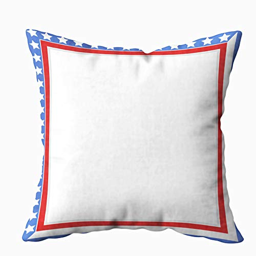 Patriotic Certificate Border - Anucky Pillow Covers,Throw Pillow Cases, American Patriotic Border Frame USA Flag Symbols Blank for Your Home Printed with Fashion Pattern Soft Case for Bedroom 18x18 Inch Decorative Pillow Covers
