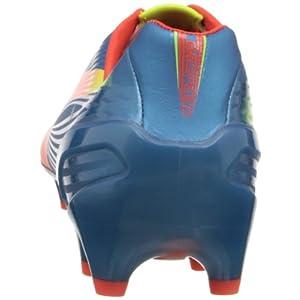 PUMA Men's Evospeed 1.2 Firm Ground Soccer Shoe,Sharks Blue/Fluorescent Peach/Fluorescent Yellow,9 M US