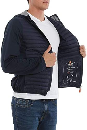 Save The Duck Luxury Fashion Uomo D3903MMIBAX00009 Blu Poliammide Piumino | Primavera-Estate 20