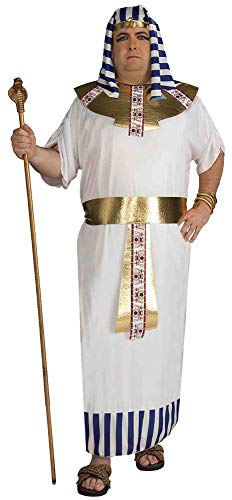 Forum Novelties Men's Pharaoh Costume, Blue/White/Gold, Plus -
