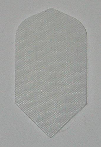 US Darts - 3 Sets (9 Flights) White Nylon Slim Dart Flights - Cloth, Fabric, Ripstop