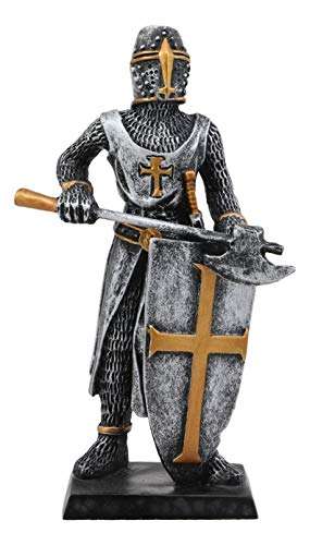 - Ebros Gift Medieval Knight Crusader Axeman Dollhouse Miniature Figurine 4