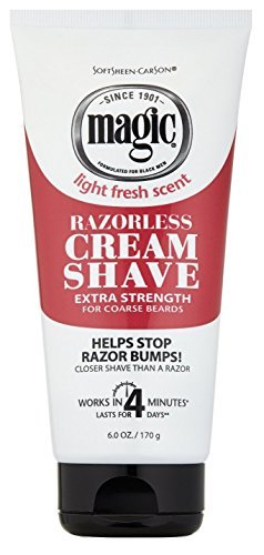 - Magic Razorless Cream Shave Light Fresh Scent Extra Strength 6oz (2 Pack)