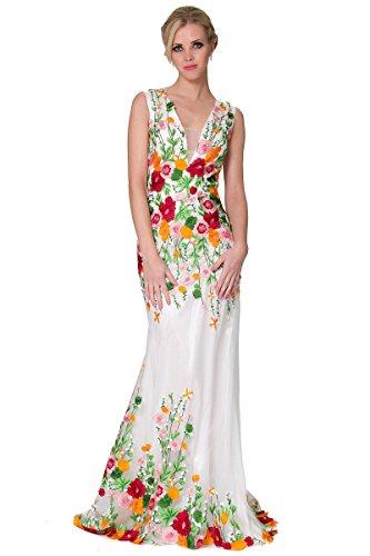 de Fish noche dama vestido Cuello de Tulle Encanto EDYP8020 MultiColor cubierto largo V SEXYHER Multicolor Tail xRXvOwqw