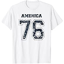 America 76 Football Jersey-Style Patriotic T-Shirt