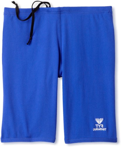 TYR Boys' Solid Durafast Jammer,Royal,24