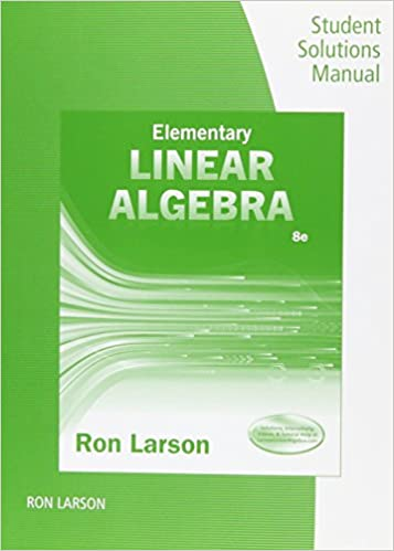 Student solutions manual for larsons elementary linear algebra student solutions manual for larsons elementary linear algebra 8th ron larson 9781305658028 amazon books fandeluxe Gallery