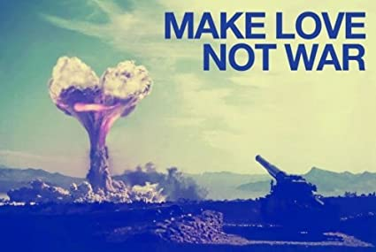 amazon com make love not war poster print size 36 x 24 by