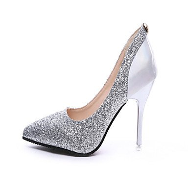Strap Summer Women'sHeels Leatherette amp; Evening EU39 US8 Walking Heel T Outdoor CN39 Party UK6 FYios Dress Stiletto Sequin tRSW4cnqAq