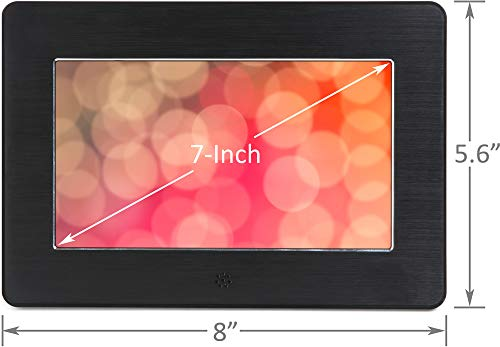 Micca 7-Inch Digital Photo Frame High Resolution Widescreen LCD, MP3 Music 1080P HD Video Playback, Auto On/Off Timer (Model: N7, Replaces M707z) by Micca (Image #2)