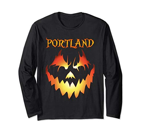 Portland, Oregon Jack O' Lantern Halloween Long Sleeve Shirt