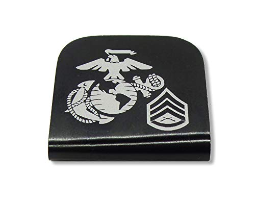 - Morale Tags USMC EGA SSGT E-6 for Your Hat! Clips Right On! Staff Sergeant (Black)