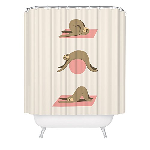 Sloth Yoga Shower Curtain / Cute Funny Sloth Shower Curtain / Cool Yoga Shower Curtain / Made in USA / Great Decoration Gift for Bathroom