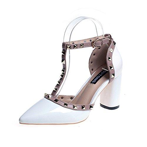 Yalanshop Descubre Con De Sandalias 1color Mujer Encaje Verano Grueso Tacones Hebillas Hebilla Zapatos OrvwgOxA