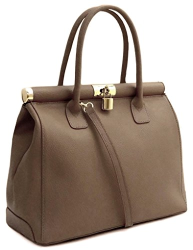 BAG à LEATHER LUXURY main taupe pour femme Sac PSqgw