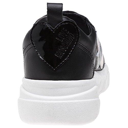 Femme Noir Love Baskets Mode Heart Love Moschino Runner Noir wPq11I