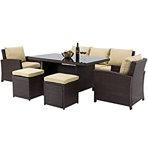41jmWgiLdCL._SS300_ Wicker Dining Tables & Wicker Patio Dining Sets