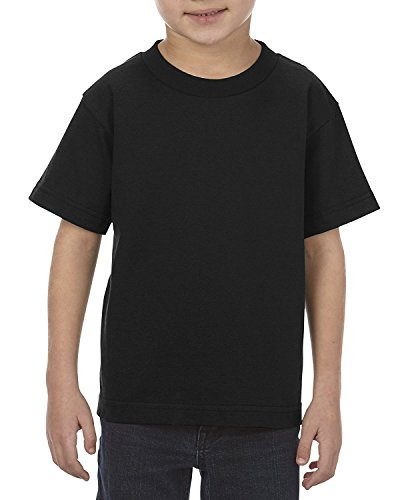 Alstyle Apparel AAA Big Kids' Youth Classic T-Shirt, Black, Small