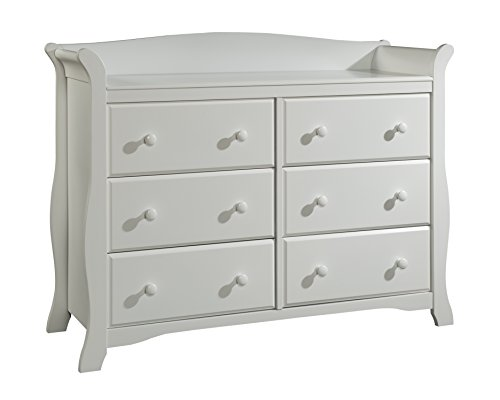 Stork Craft Avalon 6 Drawer Universal Dresser,